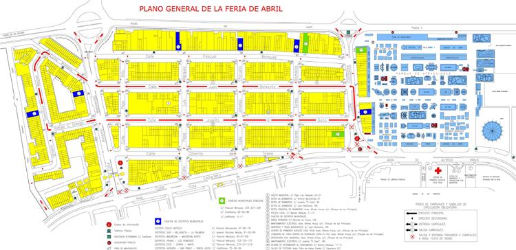 Mapa Feria Sevilla 2019.Plano De La Feria De Abril De Sevilla Www Sevillanisimo Es